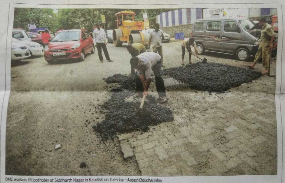 BMC Pothole Filling Lies