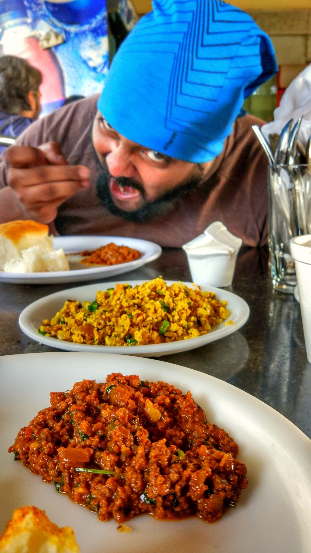 Mutton Kheema & Egg Bhurji at Hotel Ahura