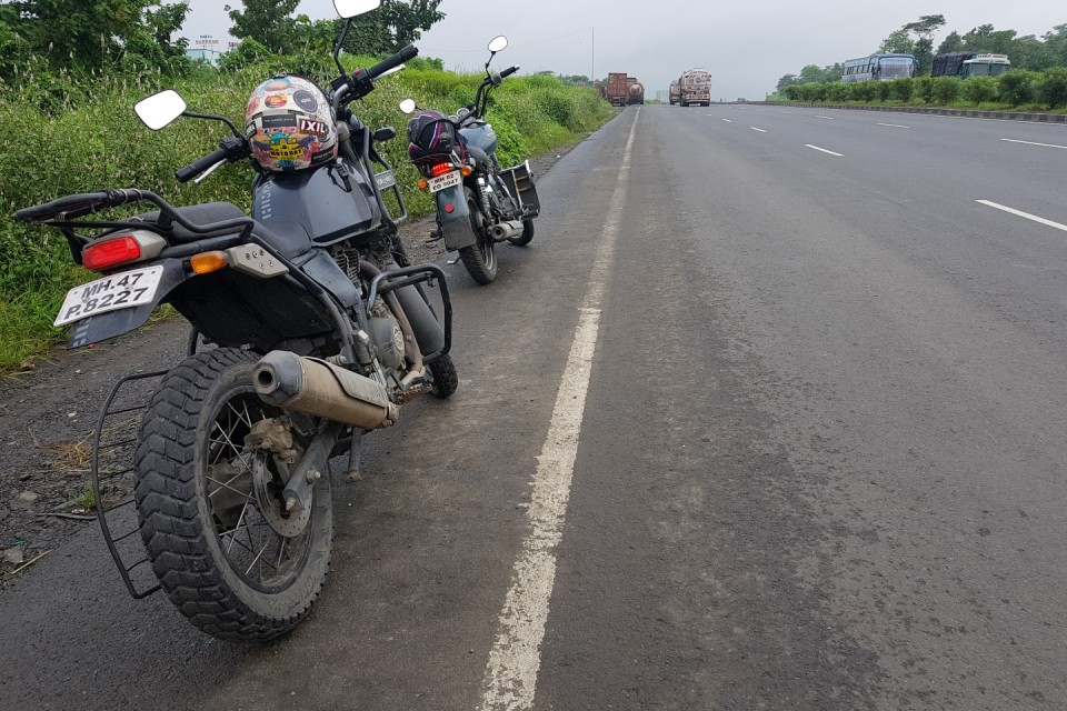 The Two Enfield's (ThunderBird 350 & Himalayan) thumping strong. Image: @crabby226