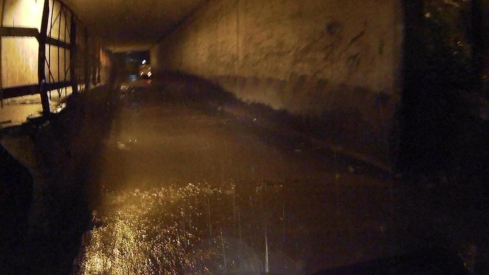 Flooded Dahisar Subway in the wee hours of a Sunday morning