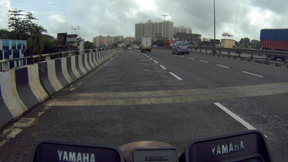 Not much traffic on the way back, the rains eased off as well...